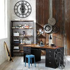 Office Wall Decorating Ideas Home Office Wall Decor Rustic Industrial Mechanice Design