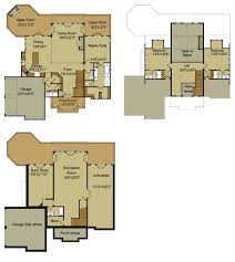 house plans with lofts rustic mountain house floor plan with walkout basement