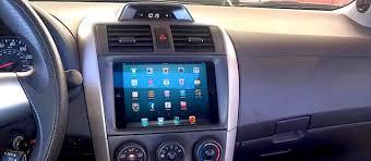 2012 toyota corolla custom mini installed in car dashboard