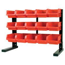 performance tool w5186 15 bin table top storage rack garage