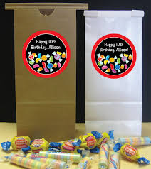 custom favor bags candy party theme custom favor bag