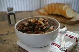 Urban Dictionary Soup Kitchen - heirloom bean and spinach soup