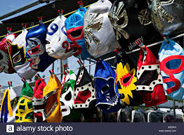 Flea Market Flags Masks At Flea Market Mexican Wrestling Masks Stock Photo Royalty