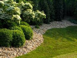 very neat idea using the rock instead of mulch landscaping