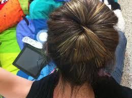 big bun hair how to make a big bun without donut or sock snapguide
