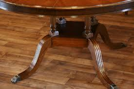 Henredon Dining Room Table by Round To Oval Mahogany Dining Table
