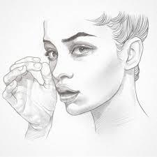 hand face quick sketch drawing sketch pencil art artsy arte