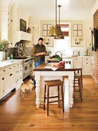 southern living kitchens ideas whitewashed cabinetry marble countertops and a generous island