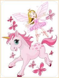 stickers chambre fille feerique sticker fée avec papillons et licorne stickers pour chambre fille