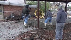 12x24 Carport Concrete Carport And Driveway Construction Youtube