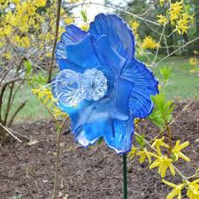 iridescent flower garden art garden from niftybitsgallery on