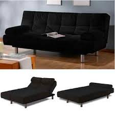 convertible futon sofa bed couch chaise lounge euro full size