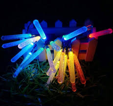 Solar Powered Icicle Lights by 20 Multi Colour Led Raindrop Icicle Lights Solar Power Hanging