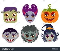 Monster Faces For Halloween Halloween Monster Faces Stock Vector 84479314 Shutterstock