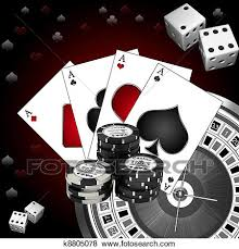 stock illustration of dice cards and k8805078