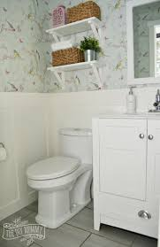 Bathroom Powder Room A Powder Room Makeover With Diy Wallpaper And Board U0026 Batten The
