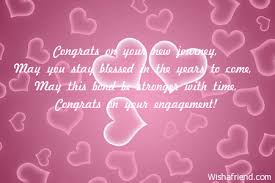 congratulations on engagement card congrats on your new journey may engagement card message