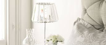 Small Crystal Table Lamp Capri Chrome Lamp With Crystal Glass Shade Laura Ashley