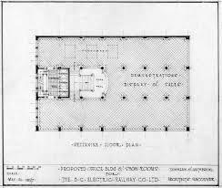 proposed office bldg show rooms for the b c electric railway co mezzanine floor plan open original digital object
