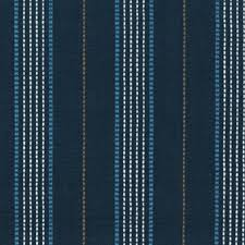 Blue And White Striped Upholstery Fabric D3175 Warren Cobalt Blue Stitched Stripe Cotton Upholstery Fabric