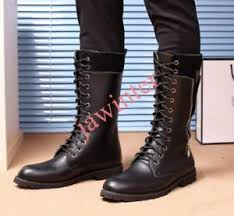 s boots plus size calf s toes lace up motorcycle mid calf boots shoes biker