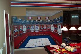 murals hockey team locker room