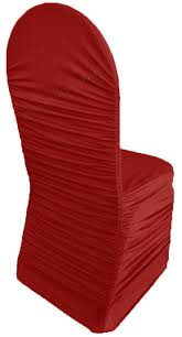 Stretch Chair Covers Apple Red Ruched Rouge Spandex Stretch Chair Covers Wholesale