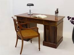 Antiker Schreibtisch Tisch Schreibtisch Um 1920 Im Biedermeier Stil Mahagoni Furniert