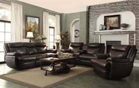 macpherson 2 piece reclining sofa set in cocoa bean leather by