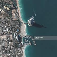 satellite image of the burj al arab hotel dubai united arab