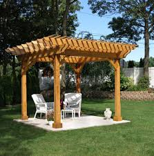 Wooden Pergola Designs by Natural Wood Pergolas Crafted By Four Seasons Home Products