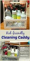 diy cleaning caddy and teaching kids how to clean the house