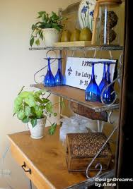 Decorating A Bakers Rack Ideas Designdreams By Anne Baker U0027s Rack Makeover Industrial Look