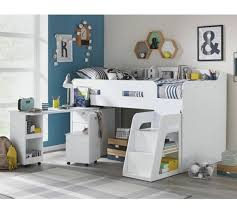 buy ultimate storage single midsleeper bed frame white at argos