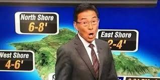 Bad Weather Meme - we feel really bad for hawaii weatherman guy hagi huffpost