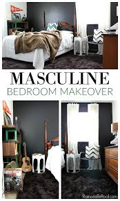 masculine bedroom decor masculine bedroom makeover with an office space