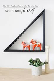 Geometric Flag Repurpose A Flag Display Case As A Triangle Shelf Hello Lidy