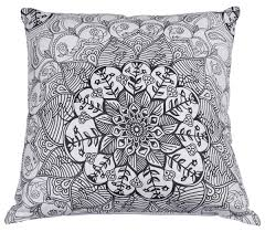 wholesale 18x18 u201d pure cotton white cushion cover with moroccan
