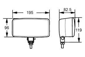 hella 005700881 550 series 195x96mm rectangular yellow fog lights