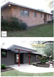 Century Awning Painted Brick U0026 Modern Awning Curb Appeal Pinterest Bricks