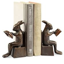 rabbit bookends studious rabbit bookends home kitchen
