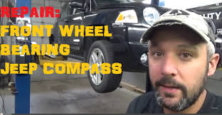 replace front wheel bearing jeep compass youtube