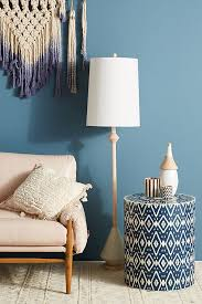 Drum Side Table Ikat Inlay Drum Side Table Anthropologie