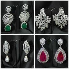 diamond earrings design 54 designs of diamond earrings bar design diamond earrings