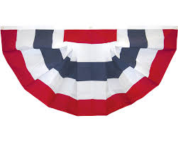 Maroon And White Flag Patriotic Bunting Fans U0026 Pleated Fans For The 4th Of July