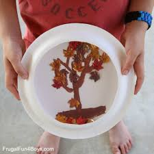 fall craft for kids paper plate fall tree u201csnow u201d globe