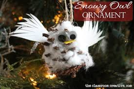 snowy owl ornament craft