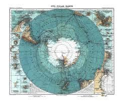 Map Of Antarctica 1912 German Map Of Antarctica Super Retro