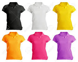 women u0027s blank polo shirt front design template in many color