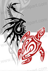 tribal water vector clipart for professional use vinyl